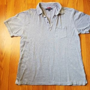 Tommy Hilfiger Polo Shirt With Pocket Bluish Gray